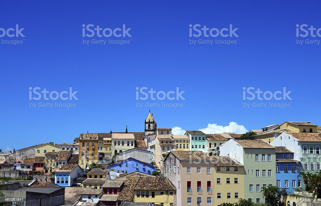 Salvador da Bahia skyline, Brazil stock photo
