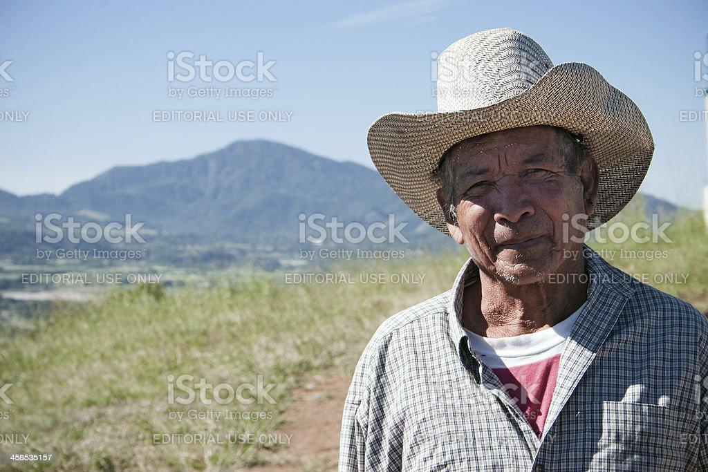 Salvadoran Farmer stock photo