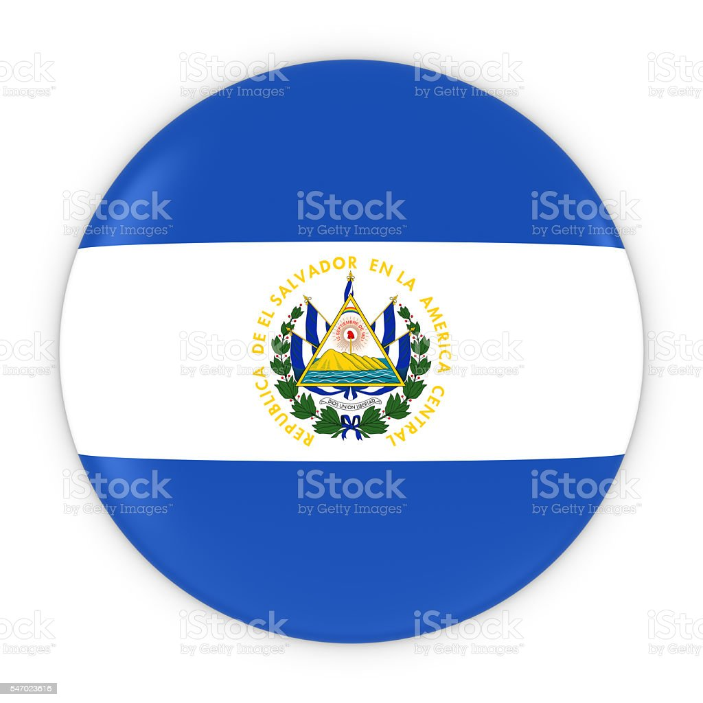 Salvadoran Flag Button - Flag of El Salvador Badge stock photo