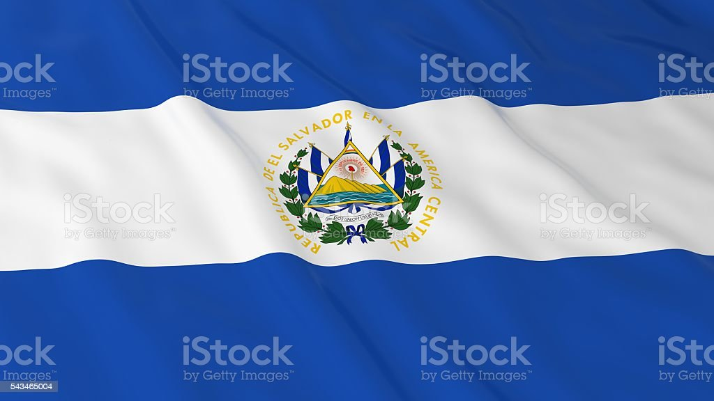 Salvadoran Flag HD Background - Flag of El Salvador stock photo