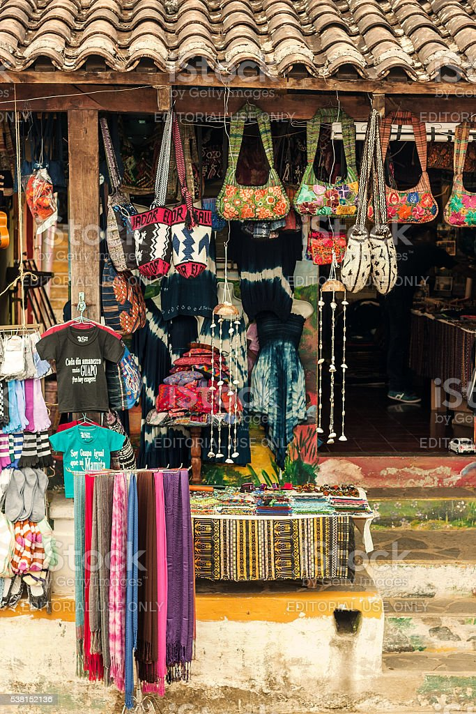 Salvadoran Gift Shop Front stock photo