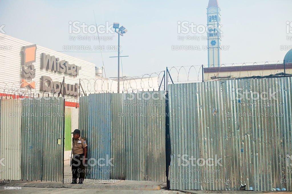 Salvadorian Security Guard stock photo
