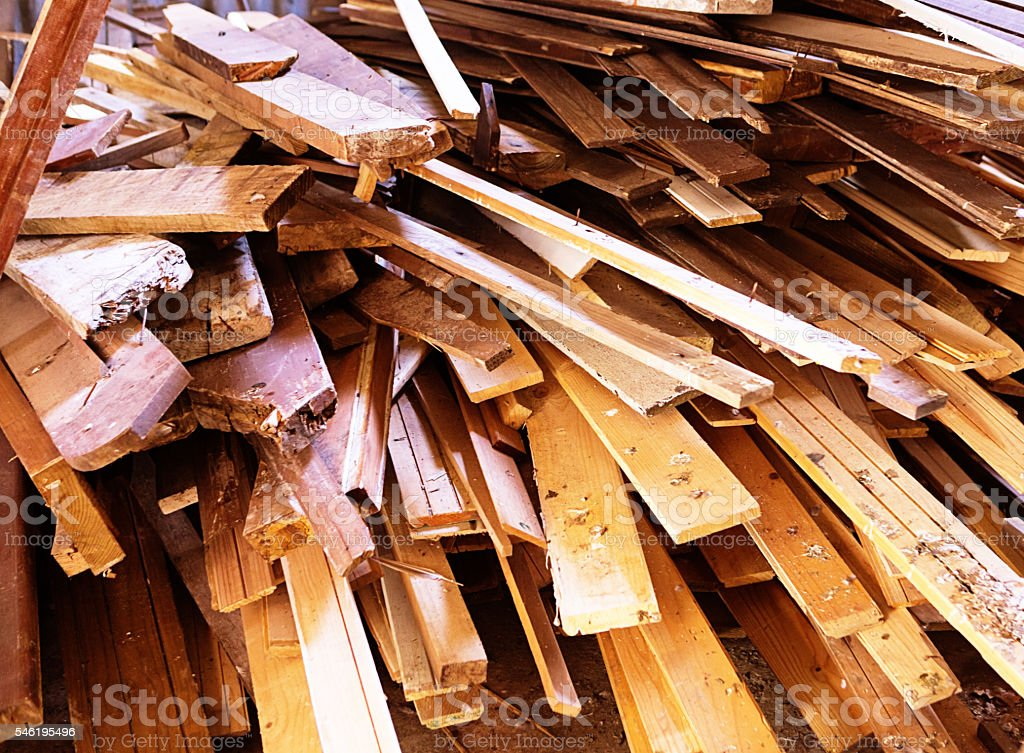 Salvaged wooden boards make attractive textured background stock photo