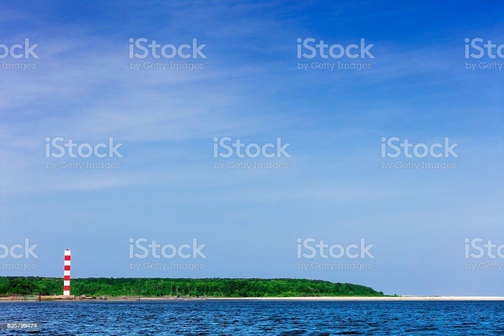 Salvaterra lighthouse in Marajo Island stock photo