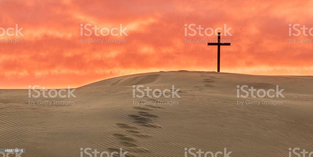 Salvation Foot Steps stock photo