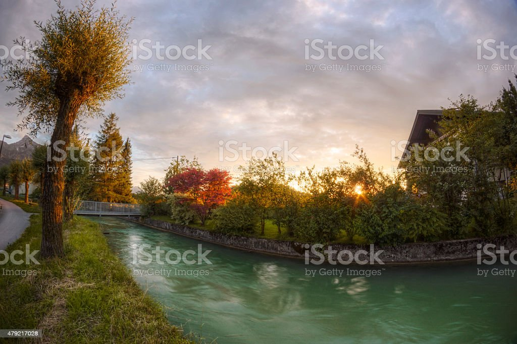 Salzburg Almkanal Waterway stock photo