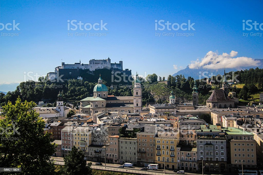 Salzburg castle royalty-free stock photo