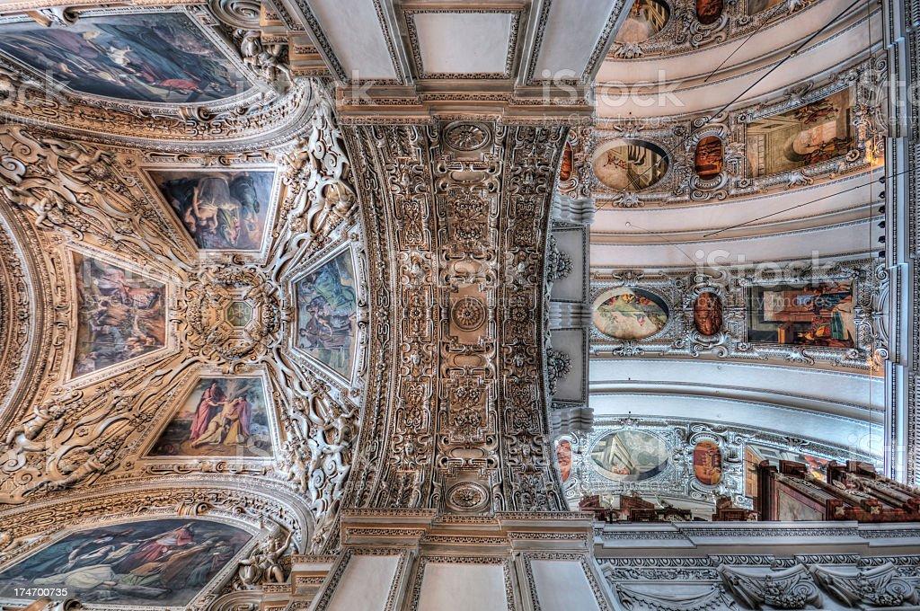 Salzburg Cathedral royalty-free stock photo