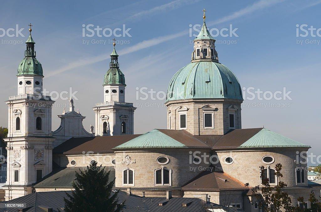Salzburg Cathedral royalty-free stock photo