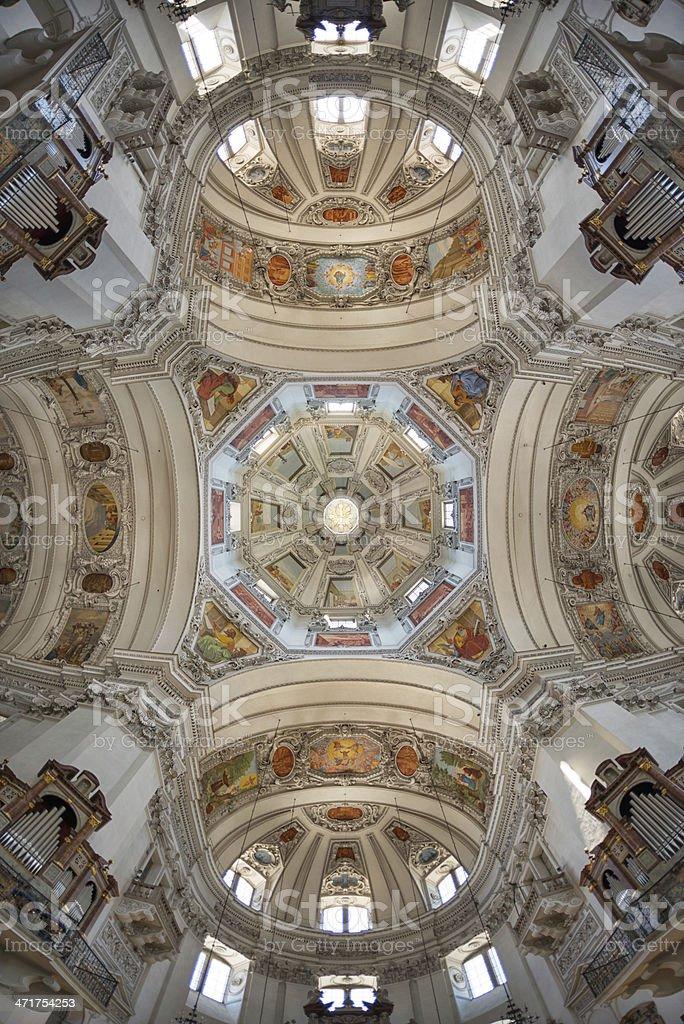 Salzburg Cathedral, Salzburger Dom, Austria stock photo