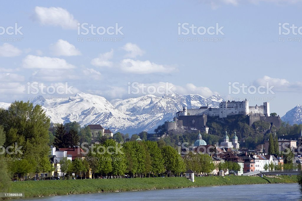 Salzburg - City in the Alps royalty-free stock photo