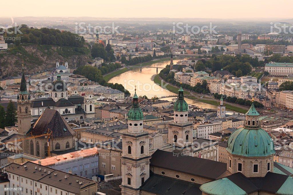 Salzburg cityscape stock photo