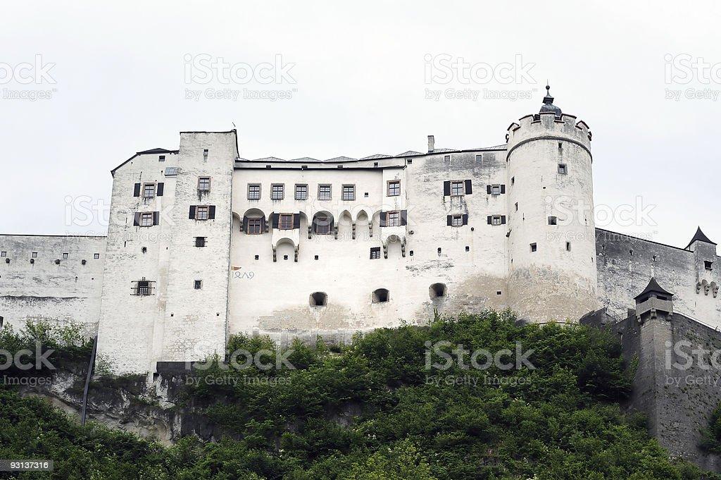 Salzburg fortress stock photo