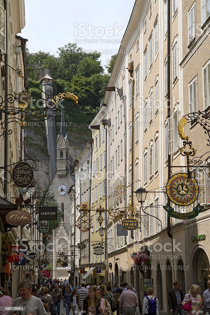 Salzburg, Getreidegasse, Austria royalty-free stock photo