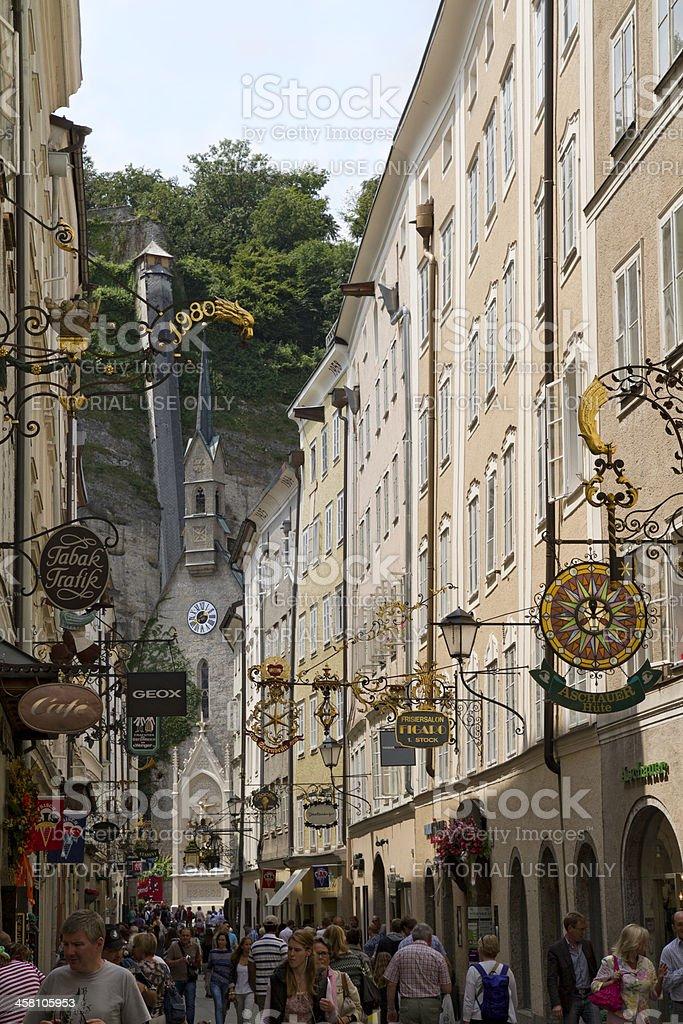 Salzburg, Getreidegasse, Austria stock photo