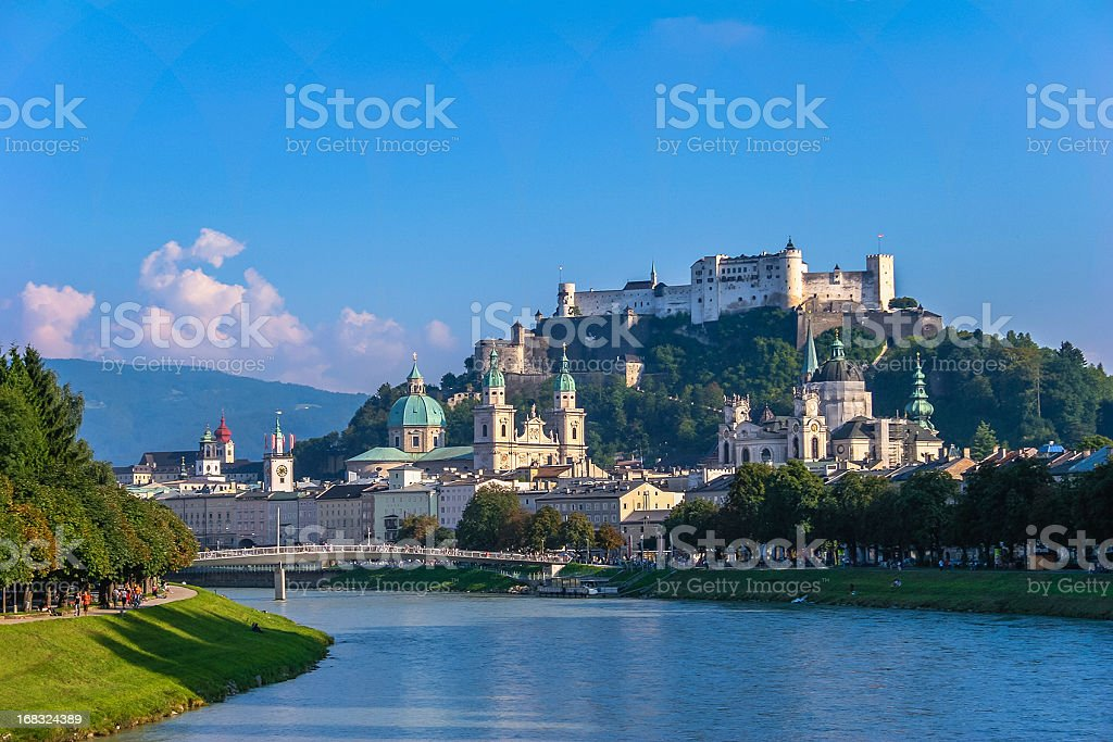 Salzburg in Summer royalty-free stock photo