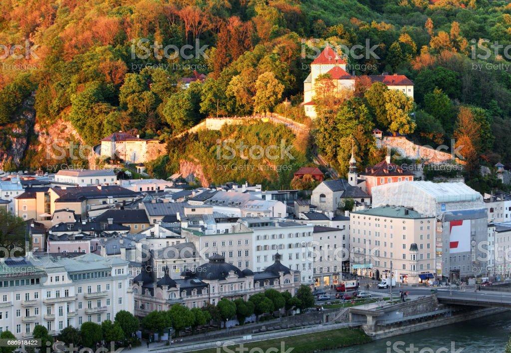 Salzburg - Kapuzinerkloster monastery stock photo