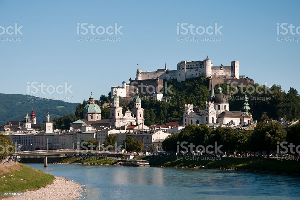 Salzburg postcard stock photo