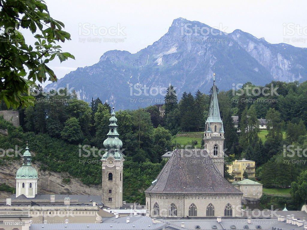 Salzburg Skyline royalty-free stock photo