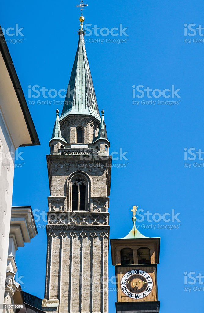 Salzburg Spires stock photo