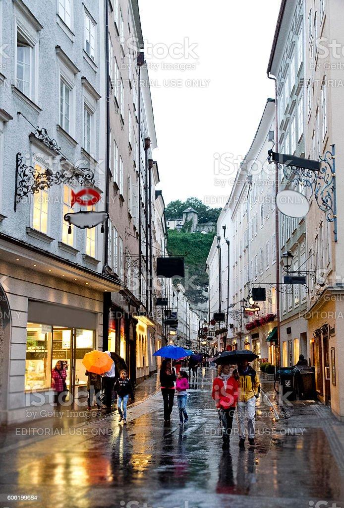Salzburg Streets stock photo