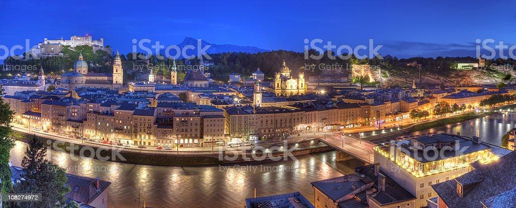Salzburg Summer Evening (XXL) royalty-free stock photo