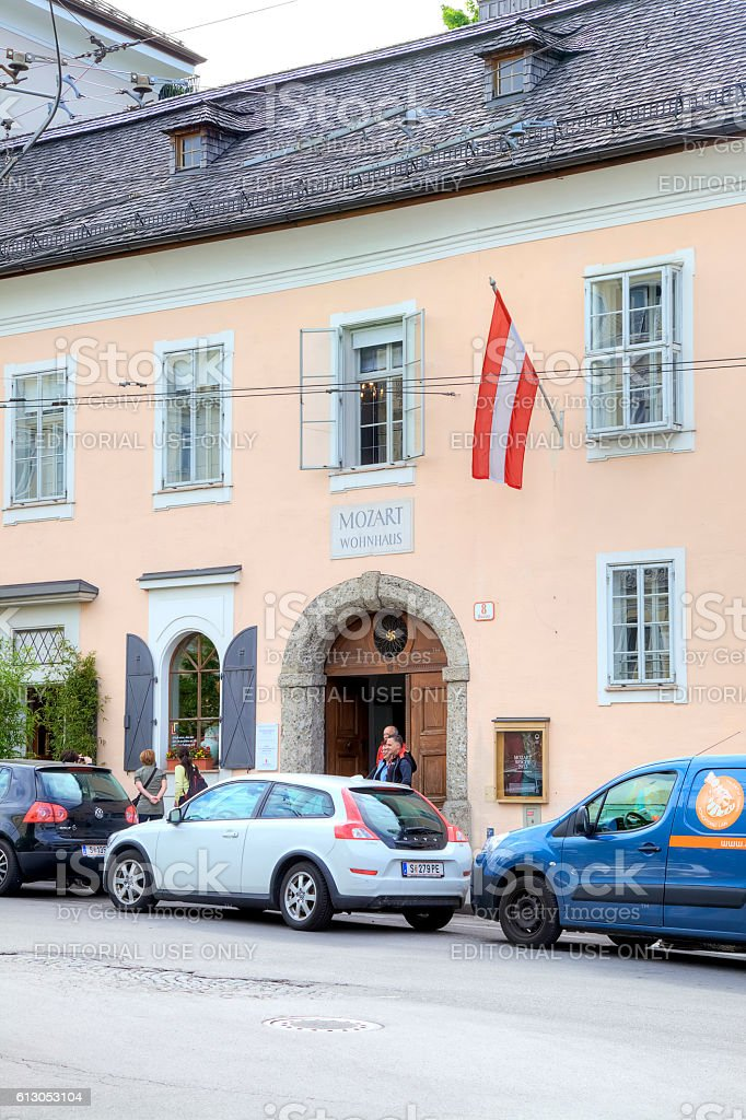 Salzburg. The house-museum of Mozart stock photo