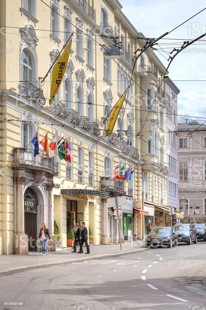 Salzburg. Urban landscape stock photo