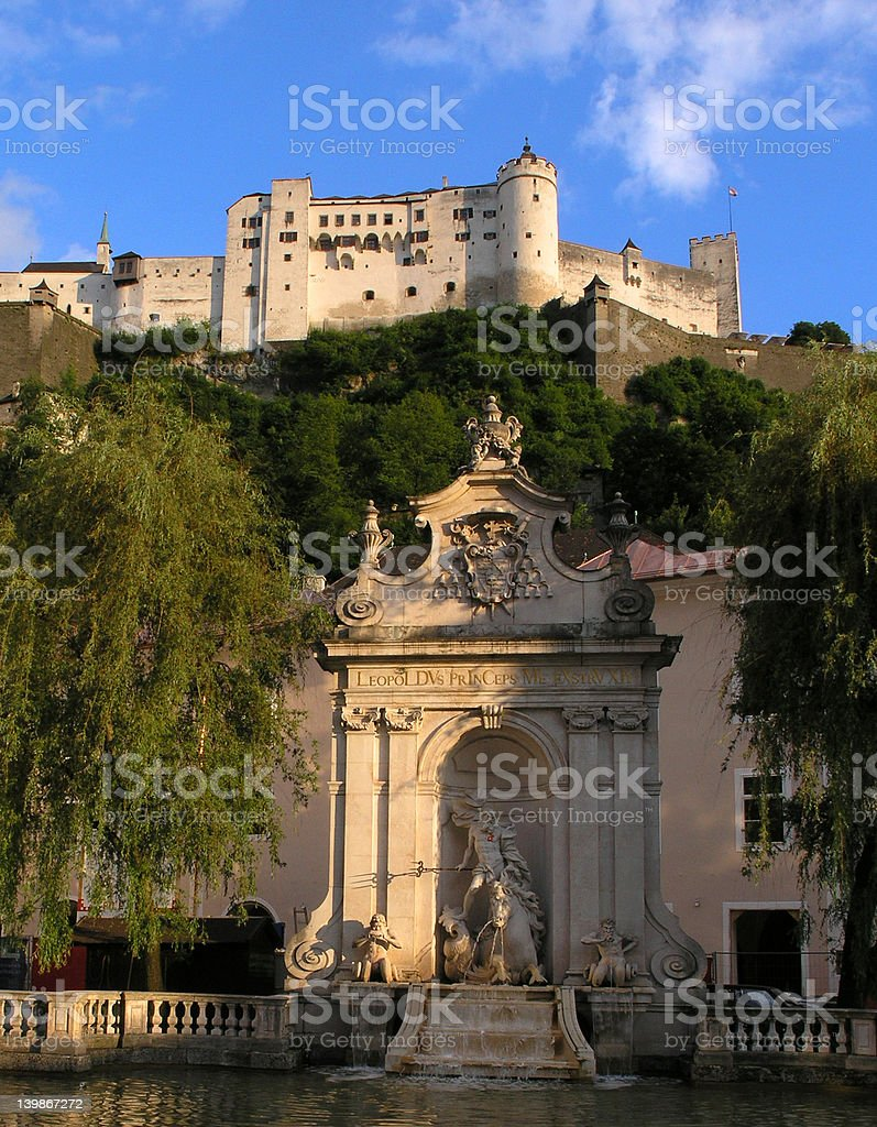 Salzburg's Castle stock photo
