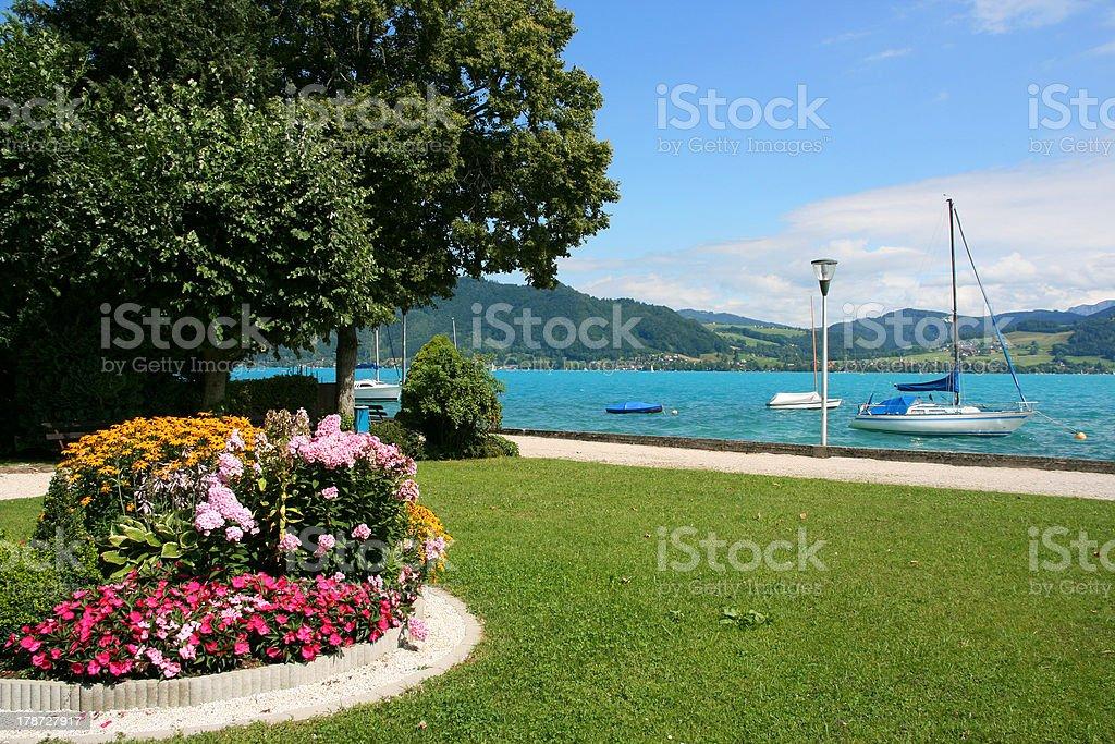 Salzkammergut - Lake Attersee royalty-free stock photo