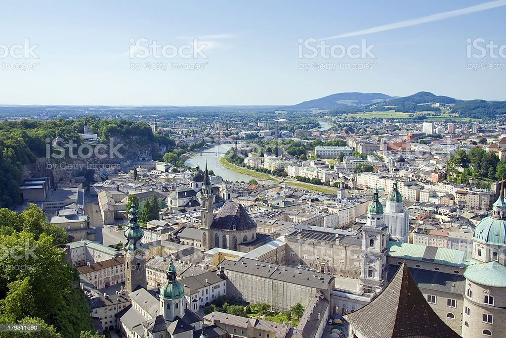 Salzsburg view stock photo