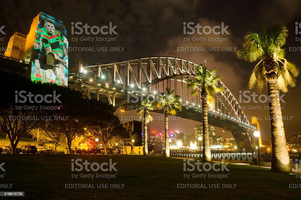Sam Burgess Bridge stock photo