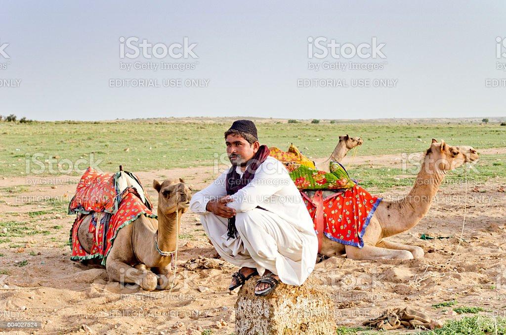 Sam Desert, Jaisalmer, Rajasthan, India stock photo