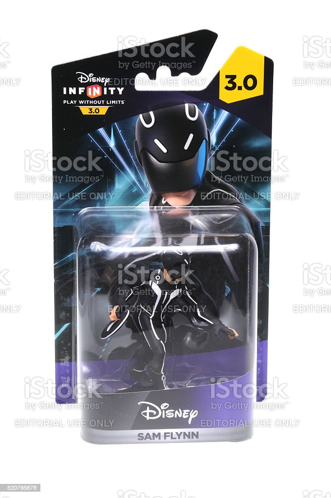 Sam Flynn Disney Infinity 3.0 Figurine stock photo