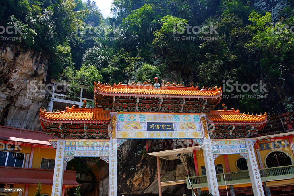 Sam Poh Tong Cave Temple, Malaysia stock photo