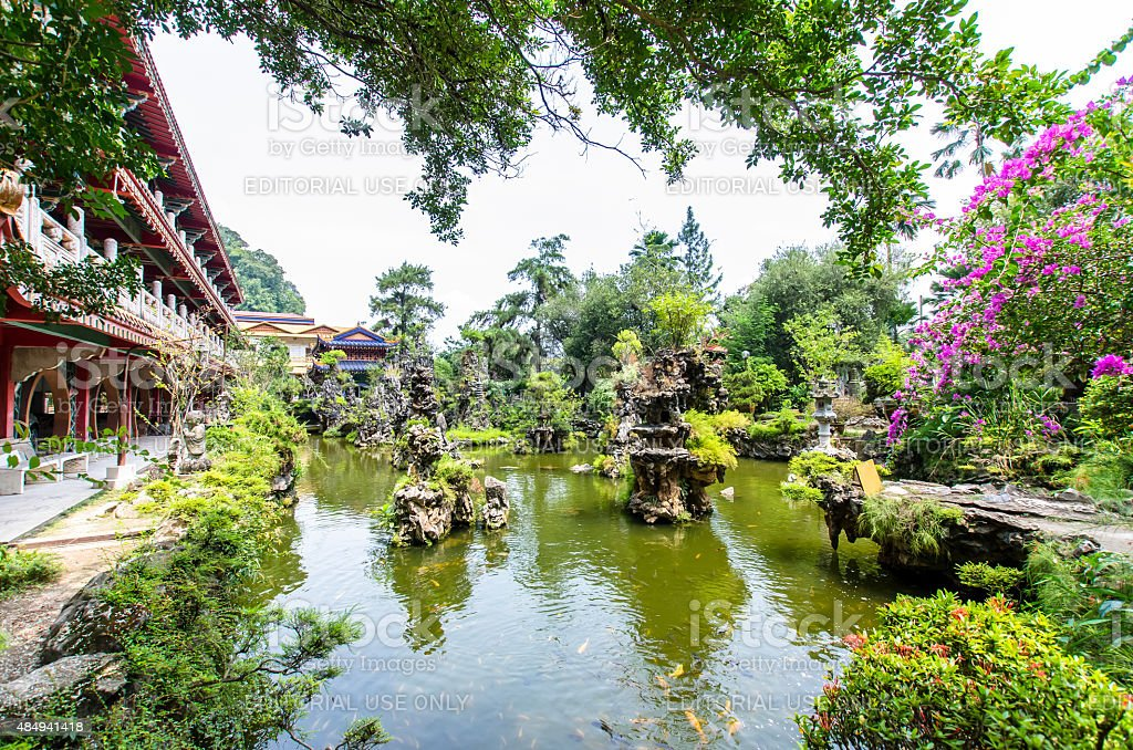 Sam Poh Tong Temple located at Gunung Rapat, Ipoh. stock photo