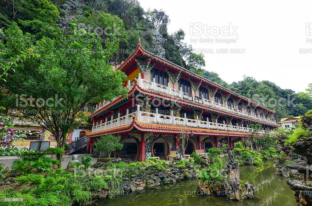 Sam Poh Tong Temple stock photo