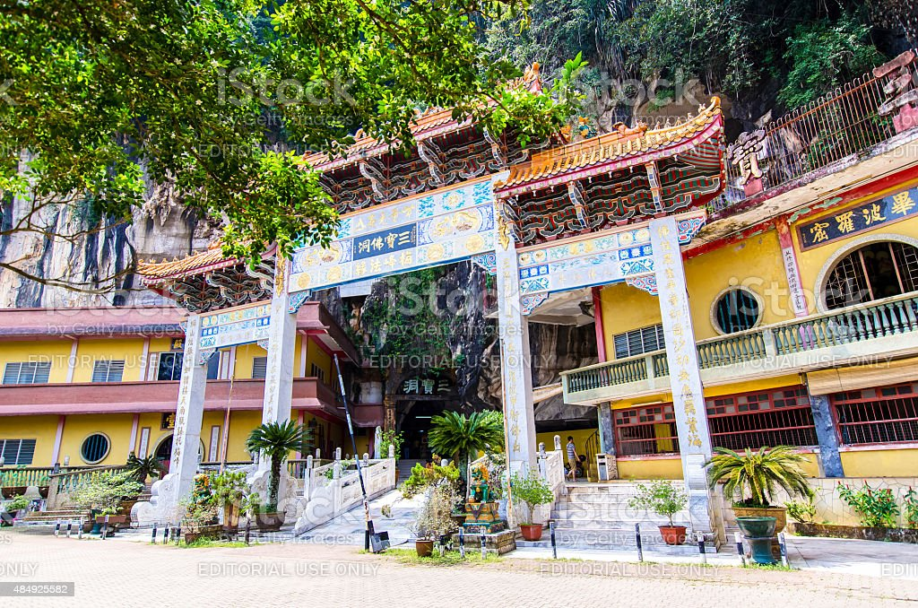 Sam Poh Tong Temple which is located at Gunung Rapat. stock photo