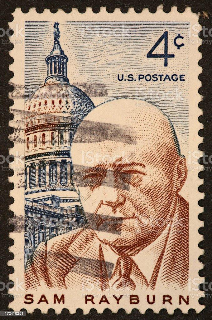 Sam Rayburn stamp stock photo