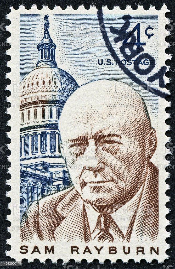 Sam Rayburn Stamp royalty-free stock photo