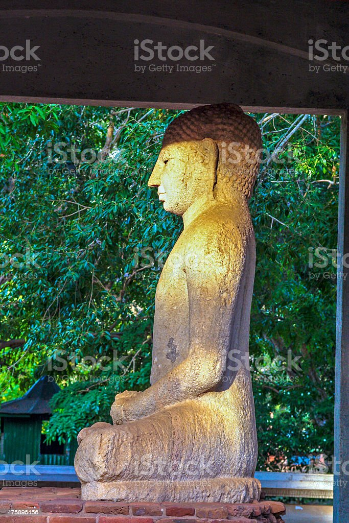 Samadhi Buddah Statue, meditating Buddah, beauty and holiness stock photo