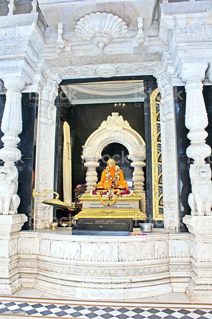 Samadhi of Shrila Prabhupada stock photo