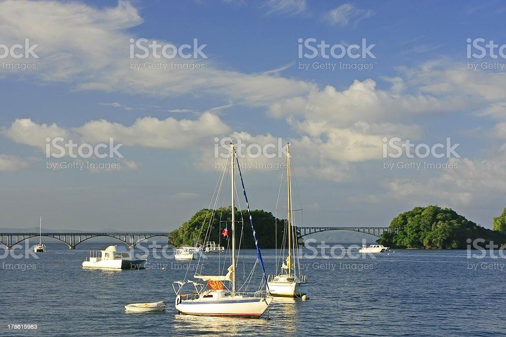 Samana bay, Dominican Republic royalty-free stock photo