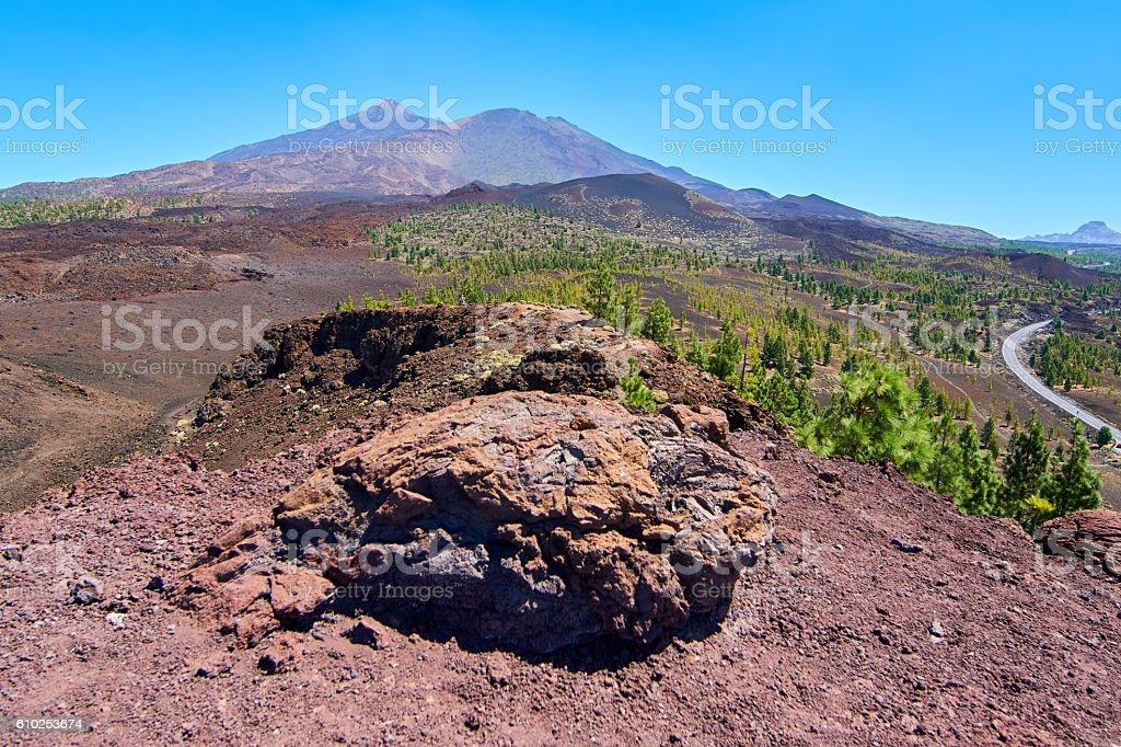 Samara mountain top - Teide's National Park stock photo