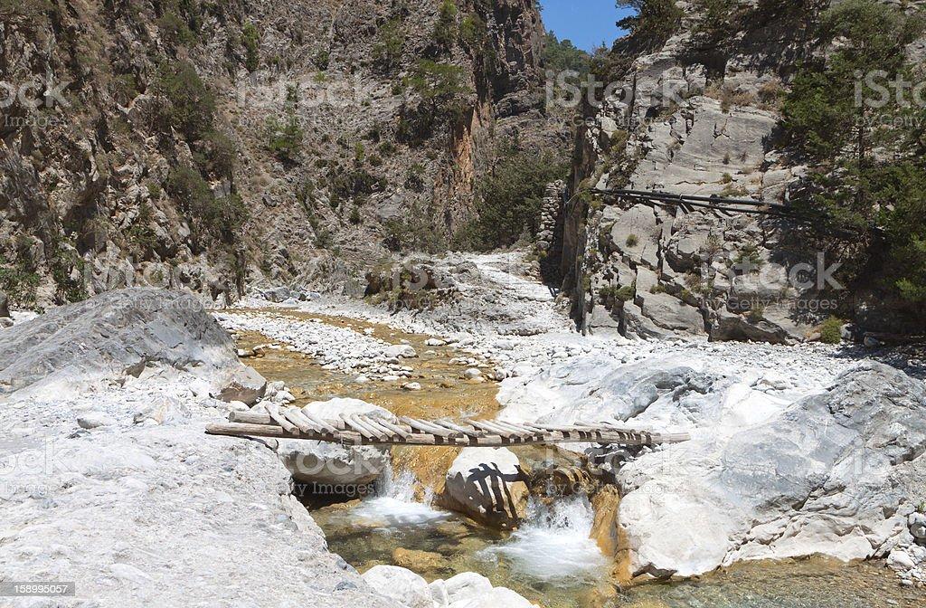 Samaria gorge at Crete island, Greece stock photo