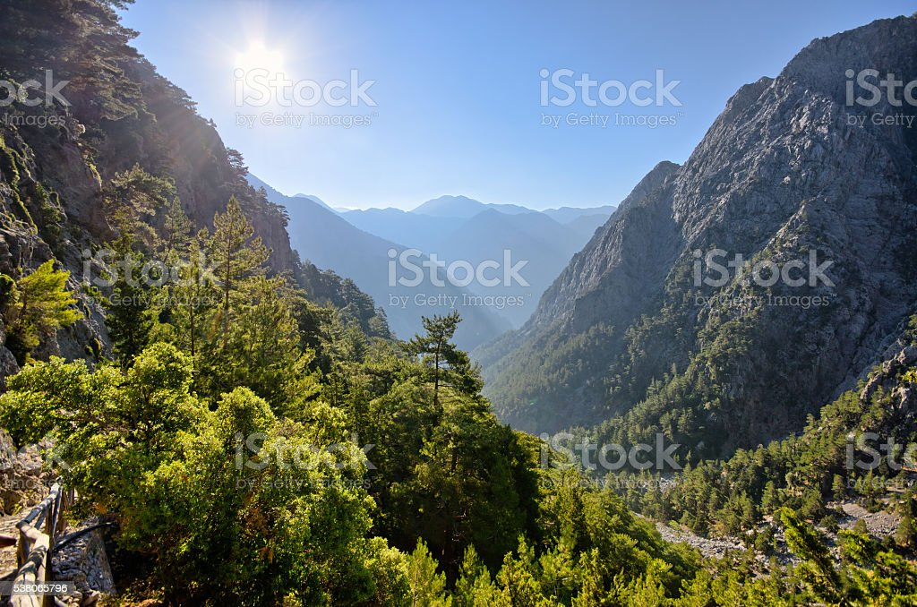 Samaria Gorge, Crete, Greece stock photo