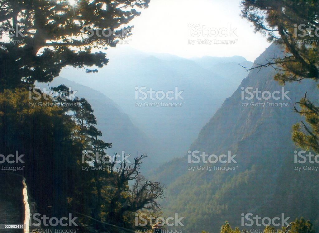 Samaria gorge, Crete stock photo