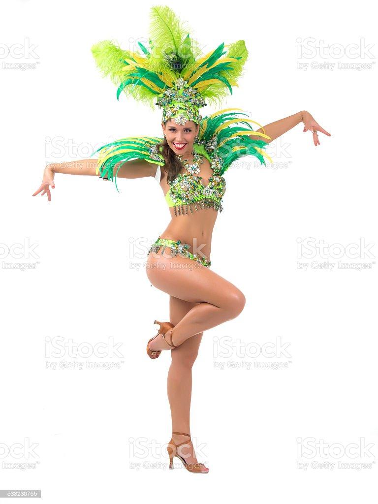 Samba dancer stock photo