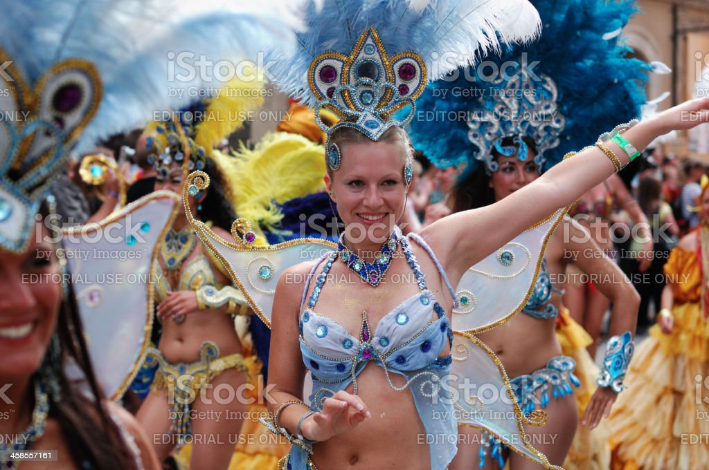 Samba dancers in Coburg royalty-free stock photo