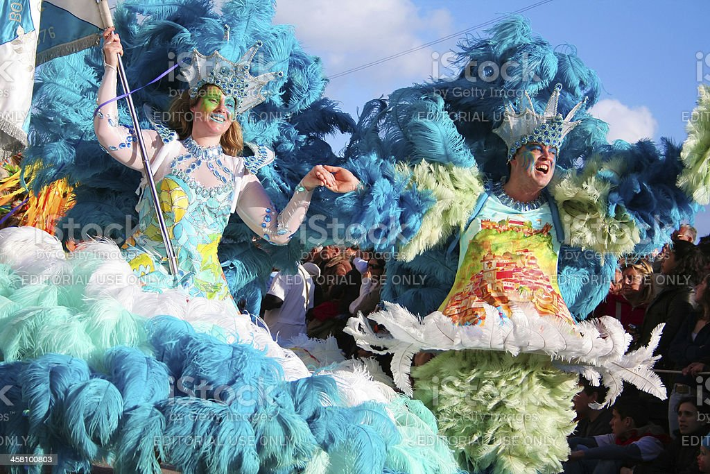Samba Dancers in the brazilian carnival stock photo